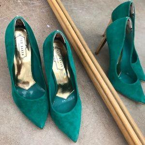 Ted Baker Heels in jewel tone green